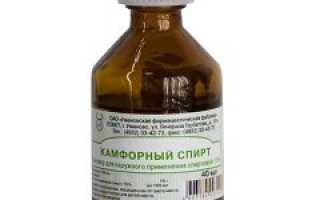 Камфорный спирт 10 процентов применение. Спирт камфорный — применение, свойства противоспалительного средства